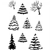 Card-io Combinations A7 Clear Stamp Set - Winter Woods - CDCCSTWIN-06